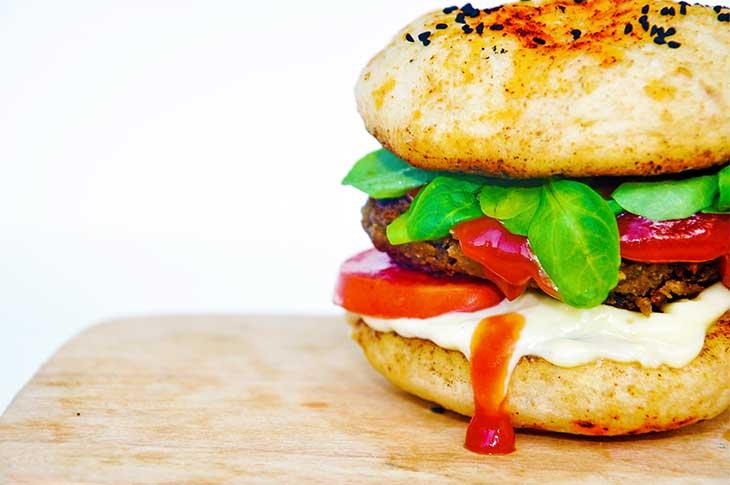 hamburger vegetalien psyllium sans gluten